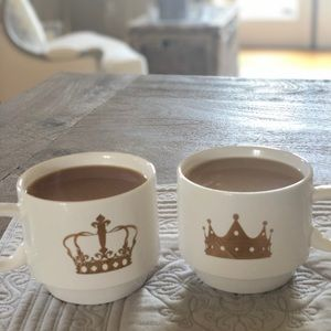 American Atelier King & Queen Stacking Mugs